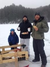 Breakfast on Buck Ice