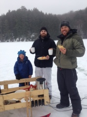 Breakfast on Buck Ice